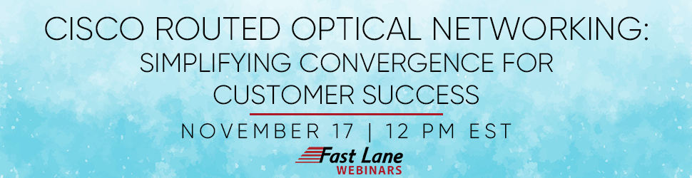 Cisco Routed Optical Networking: Simplifying Convergence for Customer Success