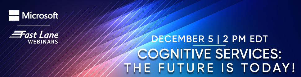 Cognitive Services: The Future is Today!