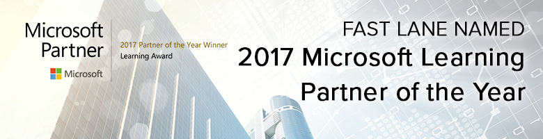 Microsoft Learning Partner Award 2017