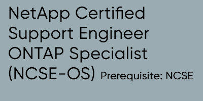 NetApp Certified Support Engineer ONTAP Specialist