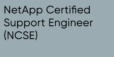 NetApp Certified Support Engineer