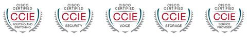 CCIE, Cisco Certified Internetwork Expert - CCDP CCNP CCSP CCVP & CCNA