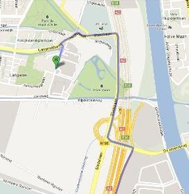 Route description Fast Lane from Den Bosch direction